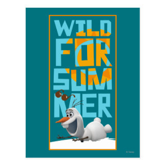 Olaf   Wild for Summer with Orange Circle Postcard