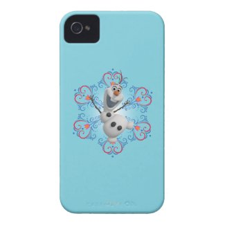 Olaf with Heart Frame iPhone 4 Case-Mate Case