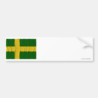 Öland waving flag (unofficial) bumper sticker