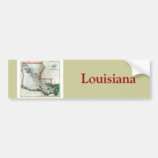 Old 1814 Louisiana Map Bumper Sticker