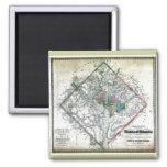 Old 1862 Washington District of Columbia Map Fridge Magnet