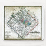 Old 1862 Washington District of Columbia Map Mouse Pads