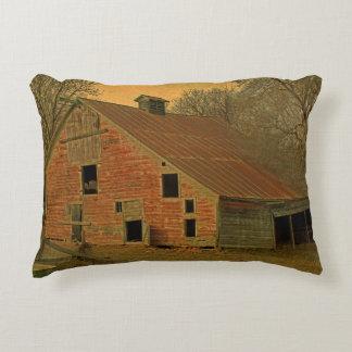 Old Abandond Barn Decorative Pillow