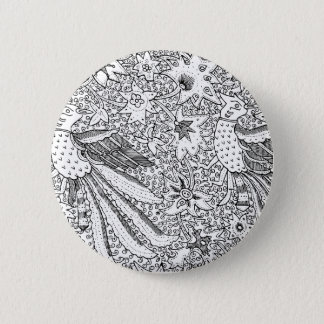 Old Abstract Textile Nature Pattern 2 Inch Round Button