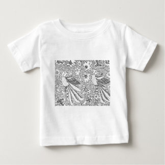 Old Abstract Textile Nature Pattern Baby T-Shirt