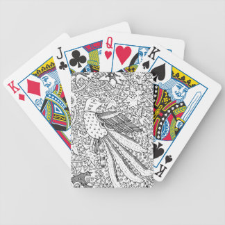 Old Abstract Textile Nature Pattern Bicycle Playing Cards