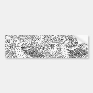 Old Abstract Textile Nature Pattern Bumper Sticker