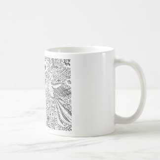 Old Abstract Textile Nature Pattern Coffee Mug