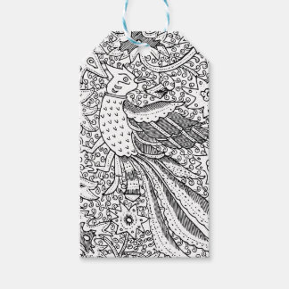 Old Abstract Textile Nature Pattern Gift Tags