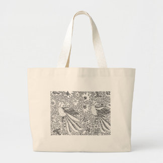 Old Abstract Textile Nature Pattern Large Tote Bag