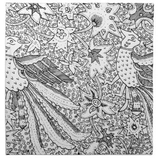 Old Abstract Textile Nature Pattern Napkin