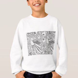 Old Abstract Textile Nature Pattern Sweatshirt