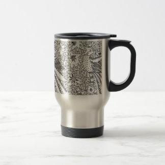 Old Abstract Textile Nature Pattern Travel Mug