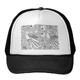 Old Abstract Textile Nature Pattern Trucker Hat