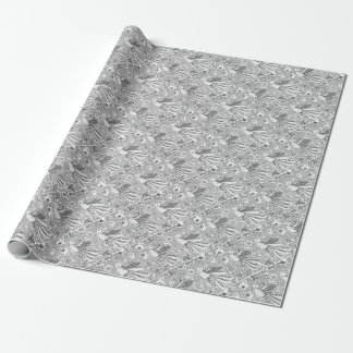 Old Abstract Textile Nature Pattern Wrapping Paper