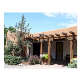 Old Adobe Santa Fe New Mexico Postcard