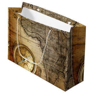 Old adventurers' Gift Wrap Large Gift Bag