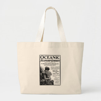 Old Advert Oceanic Steamship Company Tote Bags