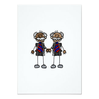 """Old African Couple 5"""" X 7"""" Invitation Card"""