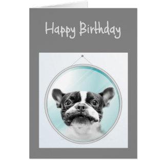 Old Age Birthday Fun French Bulldog Dog Greeting Card