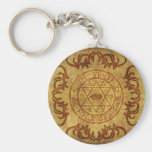 old age wicca- protective basic round button keychain