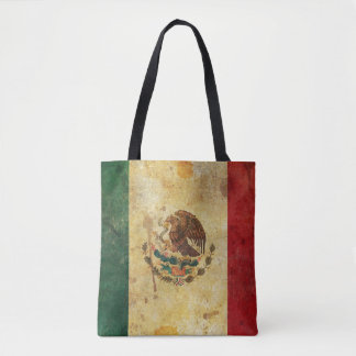 Old, Aged And Worn Grunge Flag Of Mexico Tote Bag