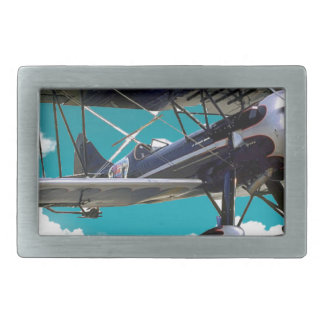 Old Airplane Rectangular Belt Buckle
