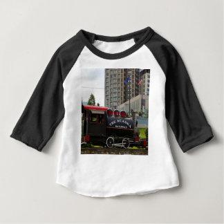 Old Alaska Railroad steam locomotive engine 2 Baby T-Shirt