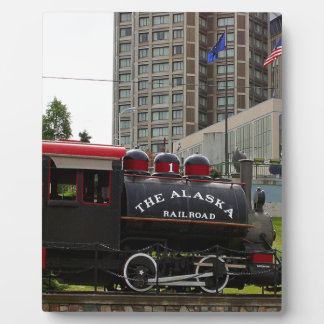 Old Alaska Railroad steam locomotive engine 2 Plaque