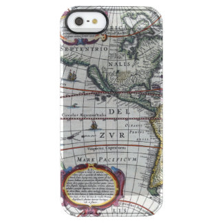 Old America Maps Clear iPhone SE/5/5s Case