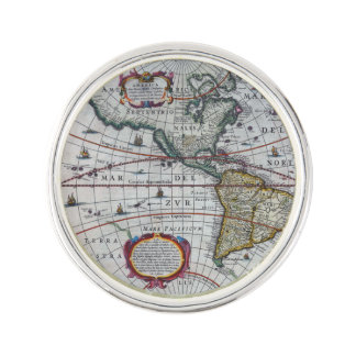 Old America Maps Lapel Pin
