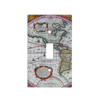 Old America Maps Light Switch Cover