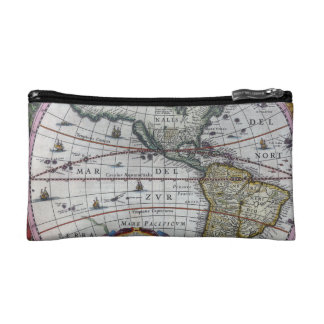 Old America Maps Makeup Bag