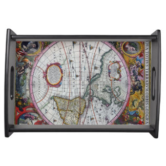Old America Maps Serving Tray