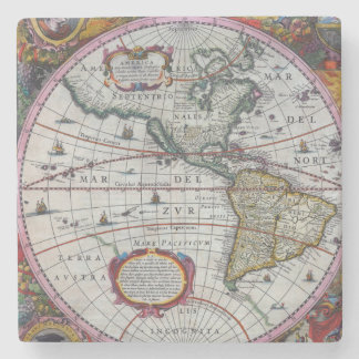 Old America Maps Stone Coaster