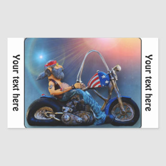 Old American Biker Sticker