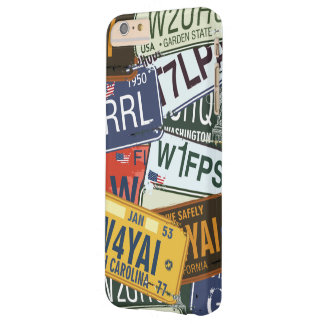 Old American Car Licence Plates Barely There iPhone 6 Plus Case