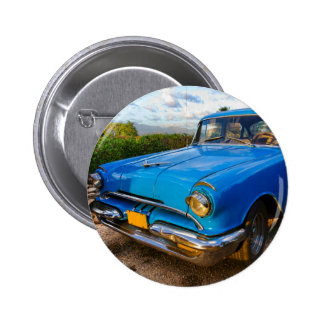 Old American classic car in Trinidad, Cuba 2 Inch Round Button