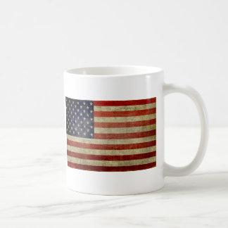 Old American Flag Basic White Mug