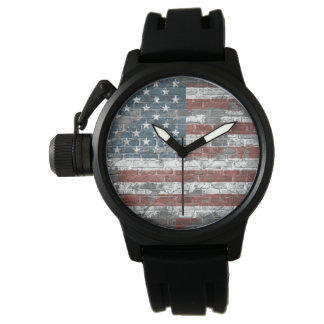 old American flag Watch