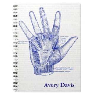 Old Anatomy Drawing Palm of the Hand Notebook