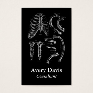 Old Anatomy Drawing The Sternum and Ribs Business Card