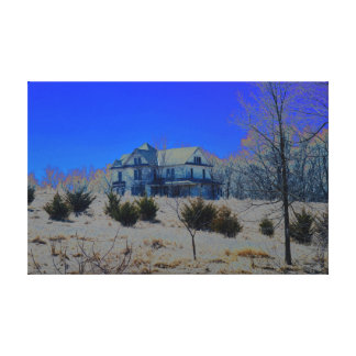 Old and Abandoned home canvas print