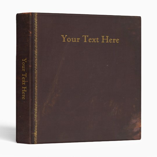 Old Antique book, retro faux leather bound 3 Ring Binder