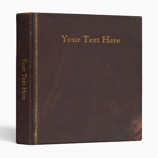 Old Antique book, retro faux leather bound Binder