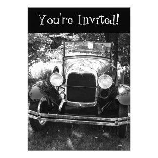Old Antique Classic Car Retirement Invitation