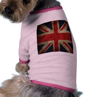 Old Antique UK British Union Jack Flag Pet Tee