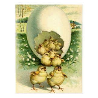 Old Antique Vintage Happy Easter wish greetings Postcard