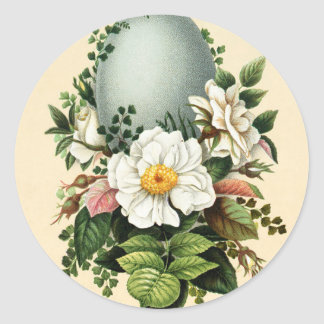 Old Antique Vintage Happy Easter wish greetings Round Sticker