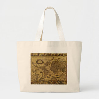 Old Antique World Map Jumbo Tote Bag